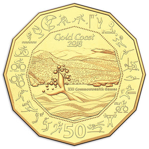 2018 50c Comm. Games Gold Plated Coin