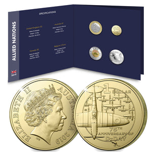 2019 $1 75th Anniversary of D-Day Al-Br Unc Set