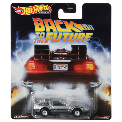 Hot Wheels Retro - Back To The Future DeLorean Die Cast Collectable Car