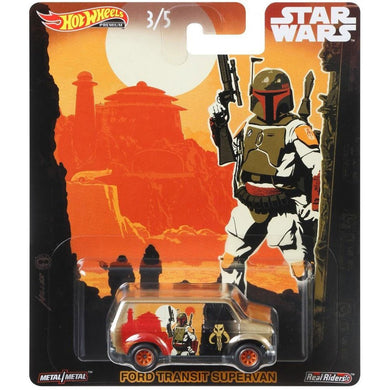 Hot Wheels Star Wars Boba Fett Ford Transit Die Cast Collectable Car
