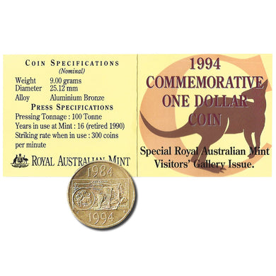 1994 $1 Decade of the Dollar C Mintmark Unc