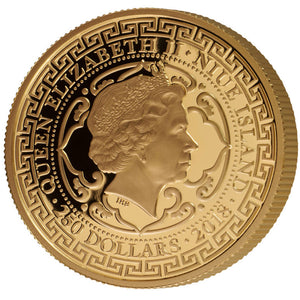2018 Niue $250 USA Trade Dollar 1oz gold proof coin