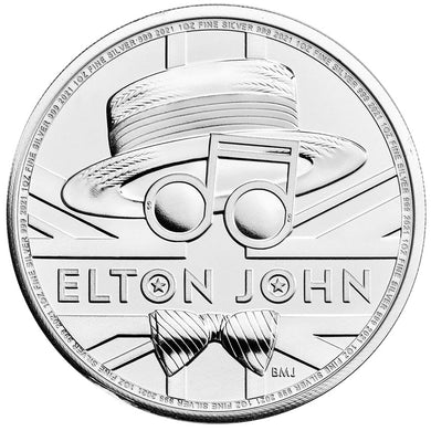 2020 UK £2 Music Legends - Elton John 1oz Silver BU
