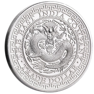 2019 St Helena £1 Chinese Trade Dollar 1oz Silver BU