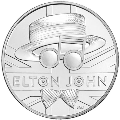 2020 UK £5 Music Legends - Elton John BU