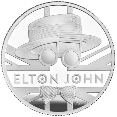 2020 UK £1 Music Legends - Elton John 1/2oz Silver Proof