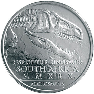 2019 Sth Africa R25 Rise of the Dinosaurs Silver BU