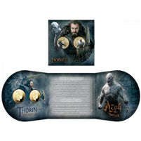 2014 NZ $1 The Hobbit BU Two-Coin Set