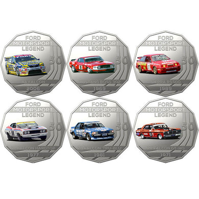 2018 50c Ford Performance Car 6-coin Set