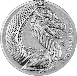 2020 5 Mark Germania Beasts - Fafnir 1oz Silver BU