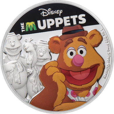 2019 Niue $2 Muppets - Fozzie Bear 1oz Silver Proof