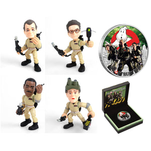 Ghostbusters Crew 1oz Silver Coin & Mini-Vinyl Figure Collection