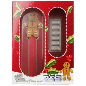 2020 Pez 5g Silver Set of 6 w/Gingerbread Man Dispenser