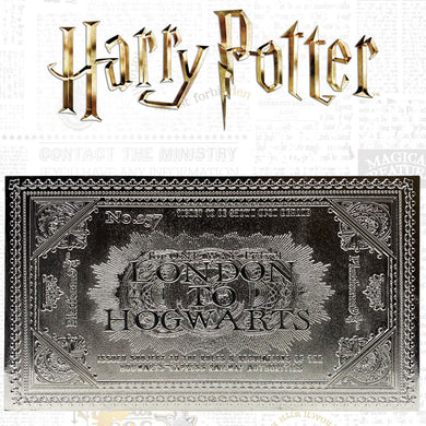 Harry Potter Hogwarts Express Silver-plated Ticket Replica