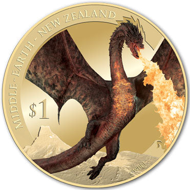 2014 NZ $1 The Hobbit BU Coin