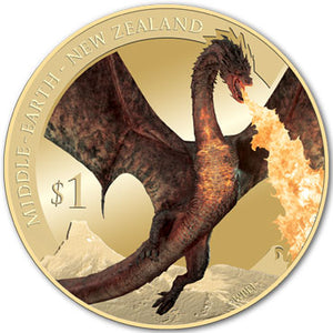 2014 NZ $1 The Hobbit: Battle of the Five Armies BU Coin