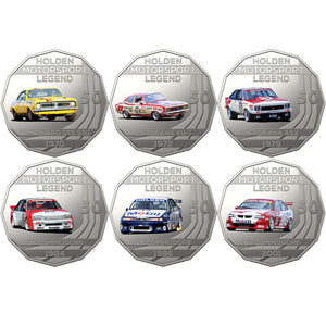 2018 50c Holden Performance Car 6-coin Set