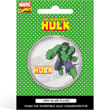 Marvel Hulk Silver Plated Collector Medal