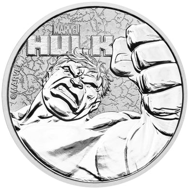 2019 Tuvalu $1 Incredible Hulk 1oz Silver Coin