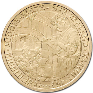 2012 NZ $1 The Hobbit: Unexpected Journey BU Coin