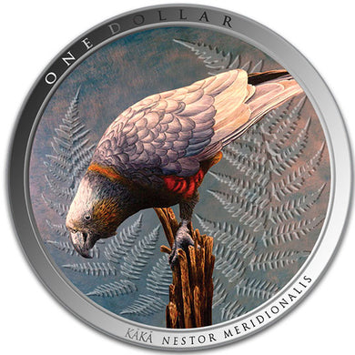 2021 NZ $1 Kaka Parrot 1oz Silver Proof