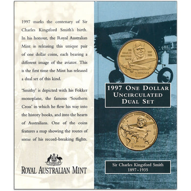 1997 $1 Kingsford-Smith Two-coin Set
