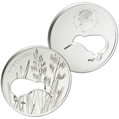2015 NZ $1 Kiwi Silhouette 1oz Silver Proof Coin