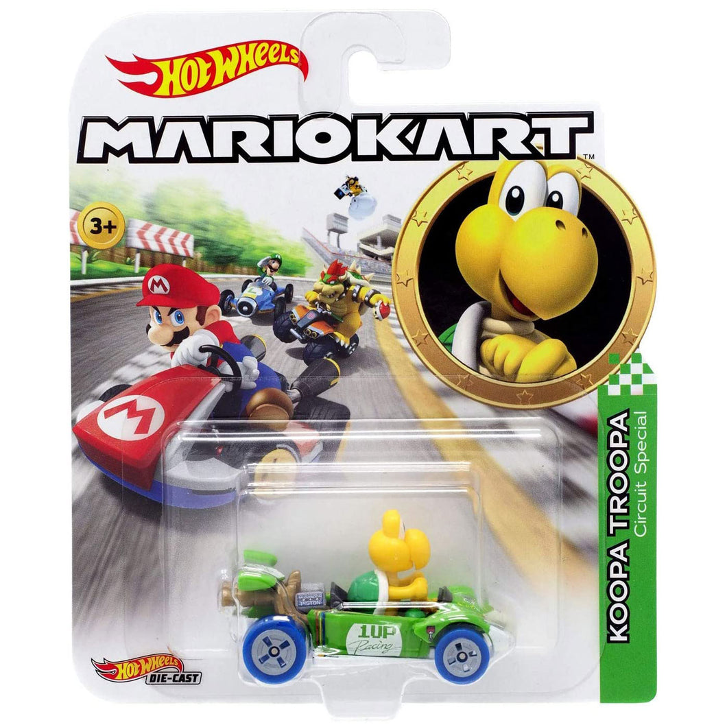 Hot Wheels Mario Kart - Koopa Troopa Die Cast Collectable Car