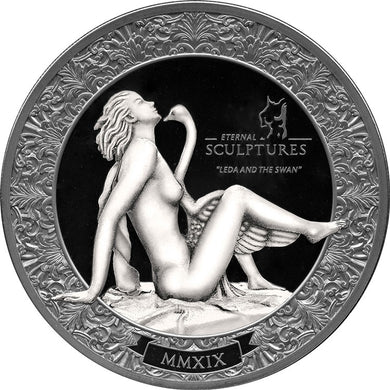 2019 Palau $10 Leda and Swan Eternal Sculptures 2oz Silver Coin