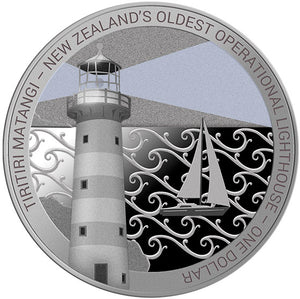 2019 NZ $1 Lighthouses: Tiritiri Matangi 1oz Silver Proof