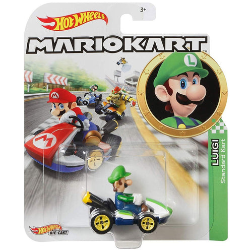 Hot Wheels Mario Kart - Luigi Die Cast Collectable Car