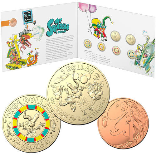 2019 Mr Squiggle 7-coin Unc Set