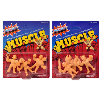 Masters of the Universe M.U.S.C.L.E. Mini Action Figure Packs A & B