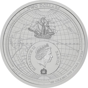 2019 Samoa $2 1st Circumnavigation Domed 40g Silver Coin