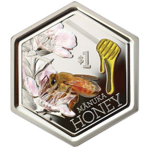 2018 NZ $1 Manuka Honey Bee 1oz Silver Proof Coin