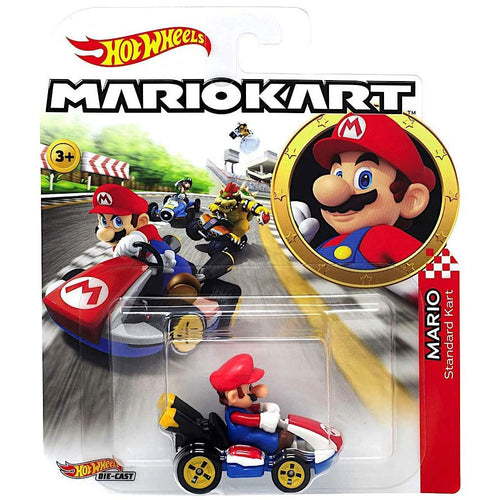 Hot Wheels Mario Kart - Mario Die Cast Collectable Car