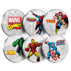Marvel Silver Plated Collector Medal Complete Collection