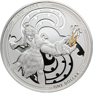 2019 NZ $1 Maui and the Goddess of Fire Silver Proof coin set