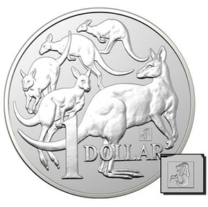2019 $1 Mob of 'Roos Merlion Privy 1oz Silver BU