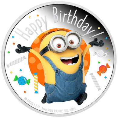 2020 Niue $2 Minions Happy Birthday 1oz Silver Proof Coin
