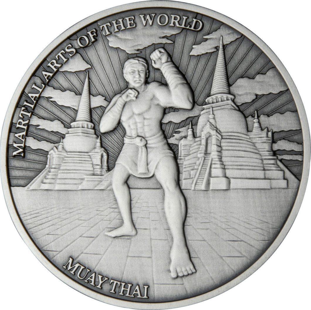 2020 Niue $5 Martial Arts - Muay Thai 2oz Silver Coin