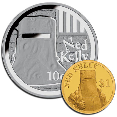 2015/17 Ned Kelly Mini Precious Metal Proof Pair