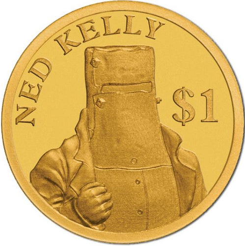 2017 Cook Isl. $1 Ned Kelly 0.5g Gold Coin