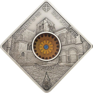 2018 Palau $10 Holy Sepulchre Jerusalem 50g Silver Coin
