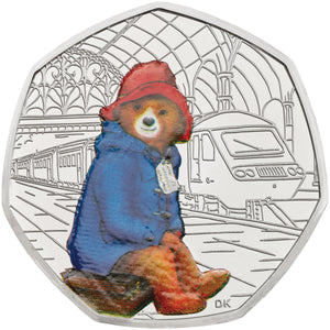 2018 UK 50p Paddington Bear Silver Proof Coin