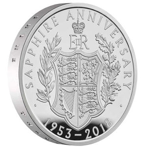 2018 UK £5 Coronation Silver Proof Piedfort Coin