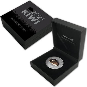 2021 NZ $1 Kiwi 1oz Silver Proof Coin
