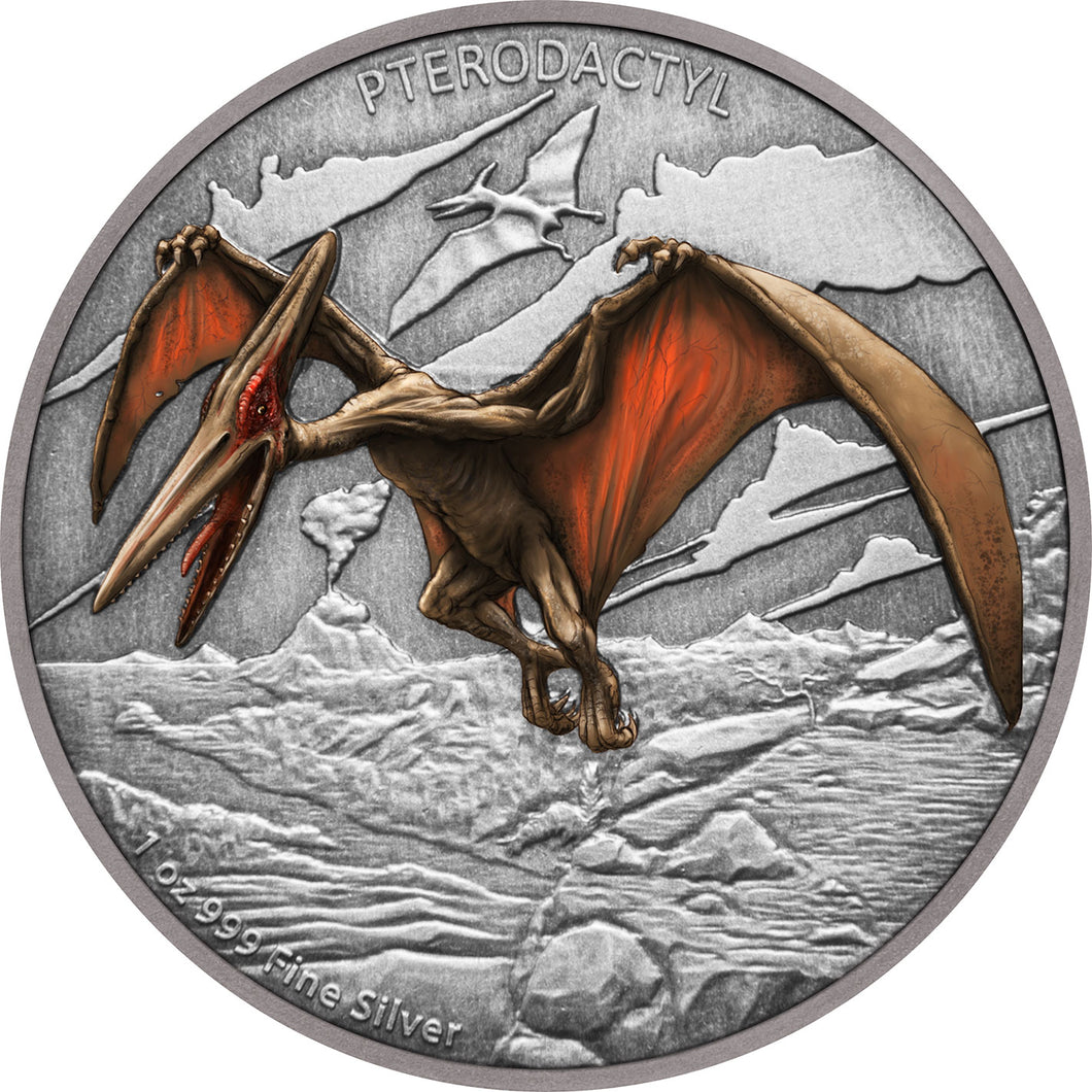 2020 Niue $2 Pterodactyl 1oz Silver Proof