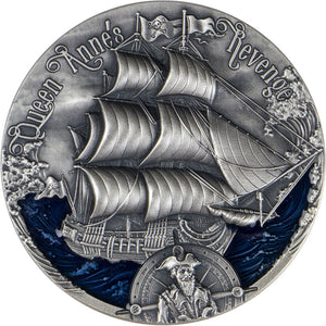 2019 Cameroon 2000Fr Queen Anne's Revenge 2oz Silver Coin