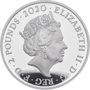 2020 UK £2 Music Legends - Elton John 1oz Silver Proof